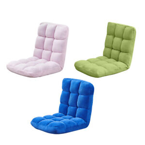Folding Lazy Sofa Floor Chair Lazy Couch Adjustable Back Lounge Seat Velvet Home