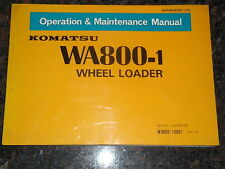 KOMATSU WA800-1 WHEEL LOADER OPERATION & MAINTENANCE MANUAL