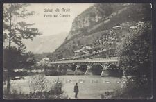 BELLUNO ARSIÈ 04 PONTE Fiume CISMON Cartolina viaggiata 1916