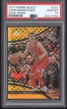 Lauri Markkanen 2017 Panini Select GOLD /10 Courtside Prizm PSA 10 RC Rookie 233