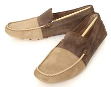 Mens DONALD J PLINER D-2 Coffee/Tan Suede Driving Loafers Shoes 8 D $185!