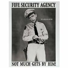 Andy Griffith Show TV Mayberry Law Fife Security Agency Retro Metal Tin Sign New