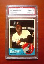 1963 Topps #490 Willie McCovey SAN FRANCISCO GIANTS ~ PSA 8