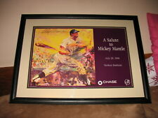 1996 Promotional Mickey Mantle Day Poster signed by Leroy Neiman