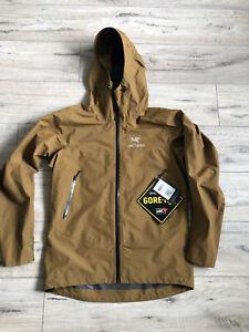 Men's Arcteryx Alpha SV GoreTex PRO Yukon Brown Jacket Size M
