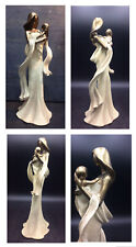 Home Decor Cream & Gold Elegant Mother And Baby Ornament,Figurine,Statues