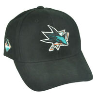 NHL San Jose Sharks Sawchuck Fan Favorite Black Adjustable Hat Cap Hockey