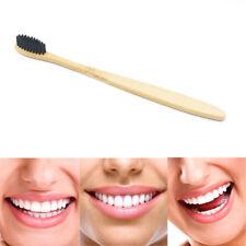 1Pc Black Bamboo Toothbrush Antimicrobic Medium Soft Gentle Family Oral Brush
