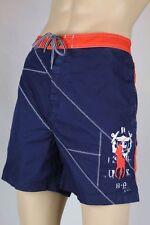 Ralph Lauren Navy Blue Swim Shorts Trunks Orange Big Pony NWT 2XB
