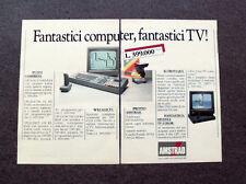 I296-Advertising Pubblicità- 1987 - AMSTRAD , FANTASTICI COMPUTER , TV