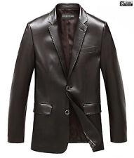 Mens Blazer Coat Stylish Classic High Fashion Jacket in Genuine Cowhide Leather