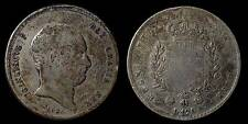 pci768) Napoli regno Francesco  I grana 120 piastra 1825 UNCLEANED
