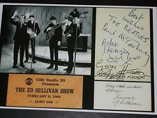 THE BEATLES ON ED SULLIVAN SHOW, SIGNED AUTOGRAPH PHOTO, 8X12, free shipping