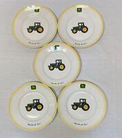 "5 John Deere Gibson Salad Plates 9"" porcelain plates"