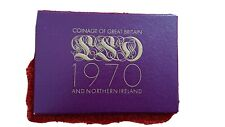 1970 Uk Proof Coin Set - last coins of the old coinage - RARE set with COA