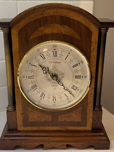 Vintage P.F. Bollenbach Model 830 Wood Mahogany Case Mantle Clock Excellent