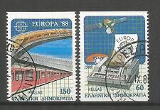 Cept / Europa   1988 gest  Griechenland C als Einzelmarken