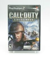 Call Of Duty Finest Hour PS2 Playstation 2 Complete Tested Free Shipping