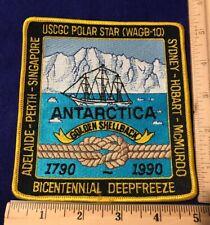 Us Coast Guard Uscgc Polar Star Wagb-10 Golden Shellback 1790-1990 Antarctica