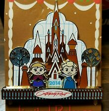 Disney Pin Frozen Elsa Anna 2014 Gingerbread House Contemporary LR