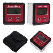 Digital Bevel Protractor Inclinometer Spirit Level Box Angle Finder Gauge Met