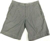 """Banana Republic Shorts Stripes Gray White Inseam 9.5"""" Mens Size 33"""