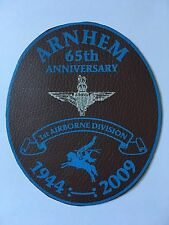 PEGASUS BRIDGE 65TH 1ST AIRBORNE DIVISION 1944-2009 SMALL LEATHER PATCH