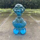 Bergdala Glasbruk Vintage Old Man Blue Glass Figurine Sweden