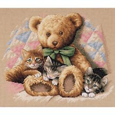 Dimensions 35236 Teddy & Kittens Counted Cross Stitch Kit