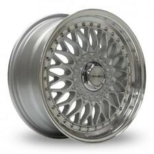 "15"" LENSO BSX SILVER MIRROR LIP ALLOY WHEELS ONLY BRAND NEW 4X108 ET30 RIMS"