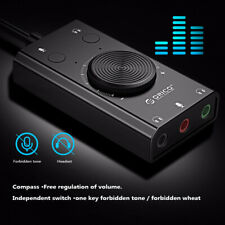 USB External Sound Card Microphone Earphone Two-in-One With 3 Port Output Volume