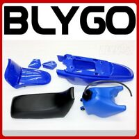 BLUE Plastic Fender Fairing Seat Fuel Tank Yamaha PEEWEE PW50 PY50 50 DIRT BIKE