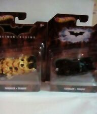 2 HOT WHEELS BATMAN BEGINS TUMBLER BATMOBILE  BLACK & CAMO LOT  (1:50) 2011 NEW