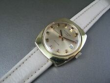 Vintage Longines Wittnauer Automatic Gold Plate  Mens Date Watch 17J C11KAS 1970