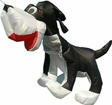 4' Wind Inflated Black & White Dog 'Line Laundry' - Not a Kite, Goes on Kiteline