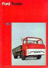Ford D Series Trucks 1972 UK market sales brochure