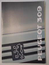 Peugeot 309 Gama Orig 1989 francés Mkt folleto de ventas depliant-con Sr Y Gti