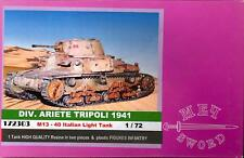 BUM Models 1/72 ITALIAN M-13-40 TANK with INFANTRY Figure Set