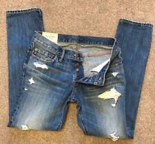 BNWOT Abercrombie & Fitch Angustiado Rasgado Cierre De Botones Jeans 30 W 30 L