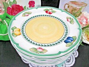 Villeroy Boch french garden fleurence set of 10 Dinner plates Germany fruits