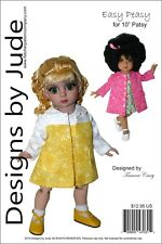 """Easy Peasy Doll Clothes Sewing Pattern 10"""" Patsy & Ann Estelle Dolls Tonner"""