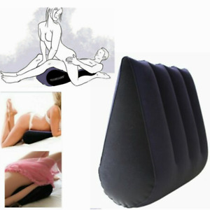 Adult Sex Pillow Wedge Triangle Position Aid Cushion Couple Inflatable Toughage