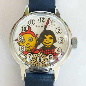 Ruhla Max und Moritz Wackelaugen Armbanduhr neuwertig super Zustand - DDR TOP