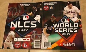 2019 NLCS + World Series Program Washington Nationals NEW Shipped in a box