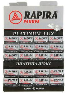 PLATINUM LUX RAPIRA Razor Blades Double Edge 100 pcs (20 packets of 5 pcs)