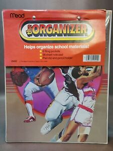 Vintage MEAD The Organizer Trapper Keeper Sport Basketball Football Soccer 1980s