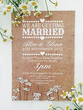 50 Personalised Vintage Country Shabby Chic Wedding Invitations!The Invite Shack