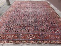 Antique Traditional Hand Made Vintage Oriental Wool Blue Large Carpet 415x322cm