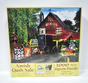 Amish Quilt Sale Jigsaw Puzzle 1000 Piece