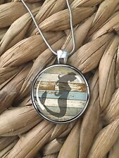 Mermaid Beach Wood Ocean Sea Beach Island Pendant Silver Chain Necklace NEW
